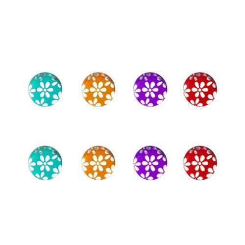 SCJ_iphone/ipad/ iPod 幻彩花兒系列 金屬home鍵貼