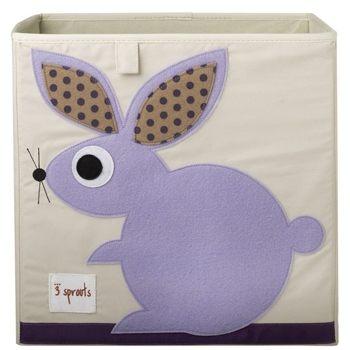 【原廠公司貨】加拿大3 Sprouts 收納箱~兔子