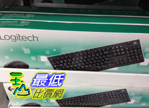 103玉山最低比價網COSCO LOGITECH羅技無線鍵盤滑鼠組K270 B175防濺灑設計鍵盤C97290 953