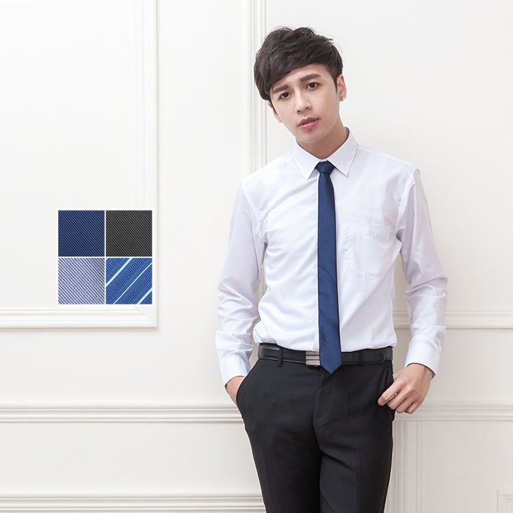大學報告碩士面試畢業照細藍色手打窄版領帶Sebiro西米羅男女套裝制服047000009