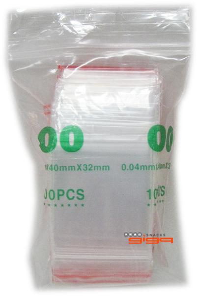 【吉嘉食品】PE夾鏈袋/規格袋/封口袋(00號) 每包7元,霧面,32mm*40mm,另有01~12號[#1]{020080059}