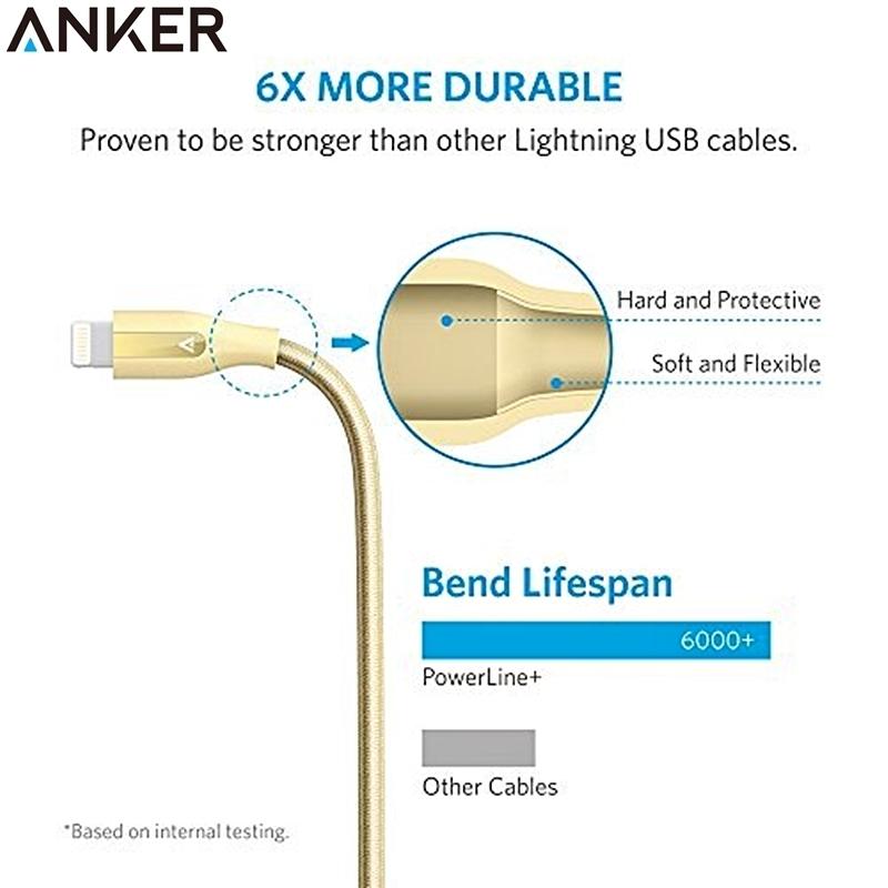 又敗家Anker Lightning充電線PowerLine 30cm蘋果Apple數據線iPod iPhone電源線iPad touch 5 6 7 SE mini pro air plus