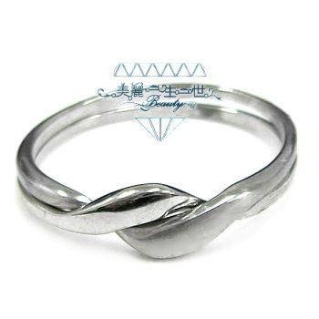 交叉西德白鋼戒、雙環智慧戒指、修飾手指、時尚精緻仿銀設計