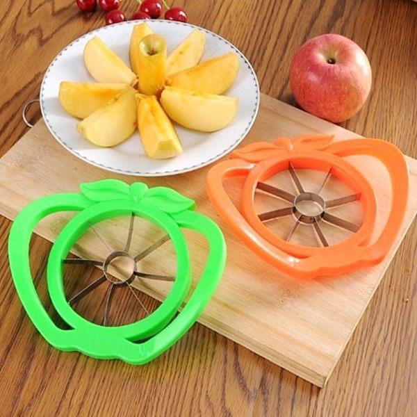 廚房用品KFS027高級不鏽鋼切蘋果器廚房用品切水果切蔬果切蘋果收納女王
