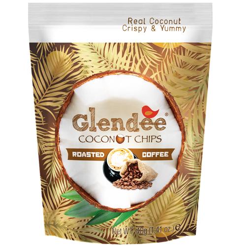 Glendee椰子脆片40g咖啡口味