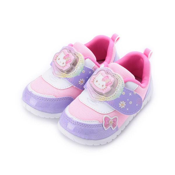 HELLO KITTY 造型電燈休閒鞋 紫/粉 719807 中小童鞋 鞋全家福