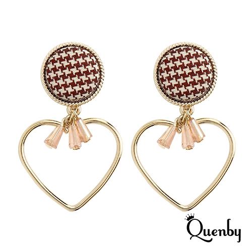 Quenby 925純銀 閃耀迷人高亮度水晶耳環/耳針
