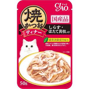 PetLand寵物樂園日本CIAO燒魚魚柳餐包小魚干貝口味50g
