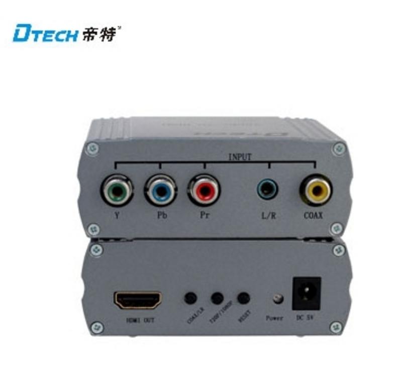 新竹超人3C帝特色差轉hdmI轉換器DT-7012 YpbPr轉HDMI高畫質1080P輸出音視頻同步輸出