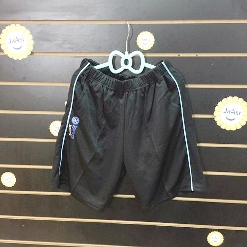 ☆棒棒糖童裝☆(1517)夏男大童鬆緊腰藍滾邊排汗短褲 台灣製造 S-3L