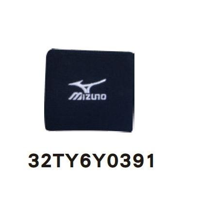 陽光樂活MIZUNO美津濃短LOGO護腕雙包覆性佳32TY6Y0391黑X白