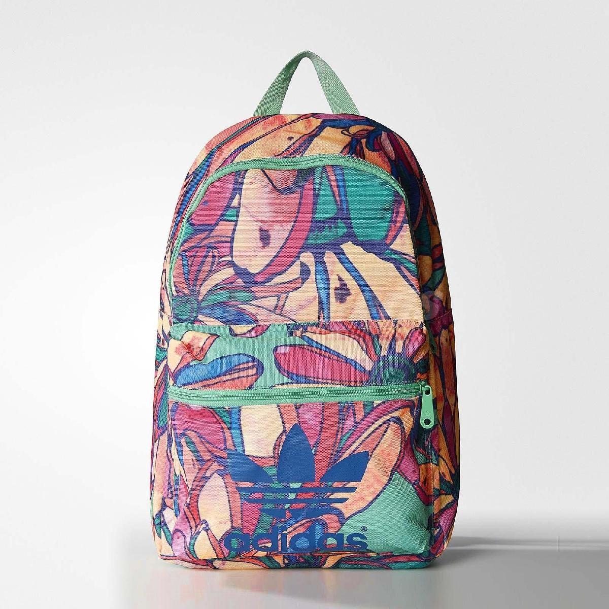 adidas後背包Bananas Backpack彩色三葉草聯名系列女款包包PUMP306 AJ8517