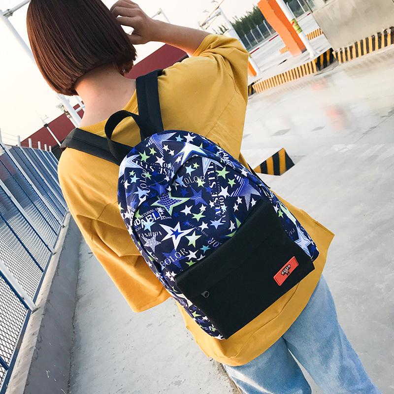 女士雙肩包 女生書包 女款旅行包 女士後背包 2017年新款帆布背包初中高中學生書包校園風旅行包