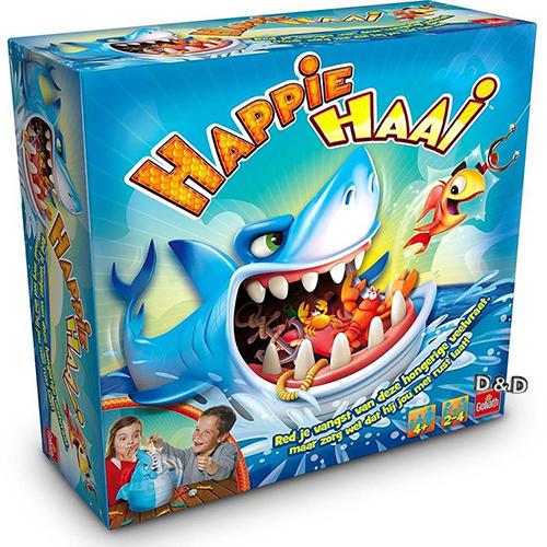 Happie Haai摸魚摸到大白鯊鯊魚桌遊派對桌遊正版公司貨JOYBUS玩具百貨