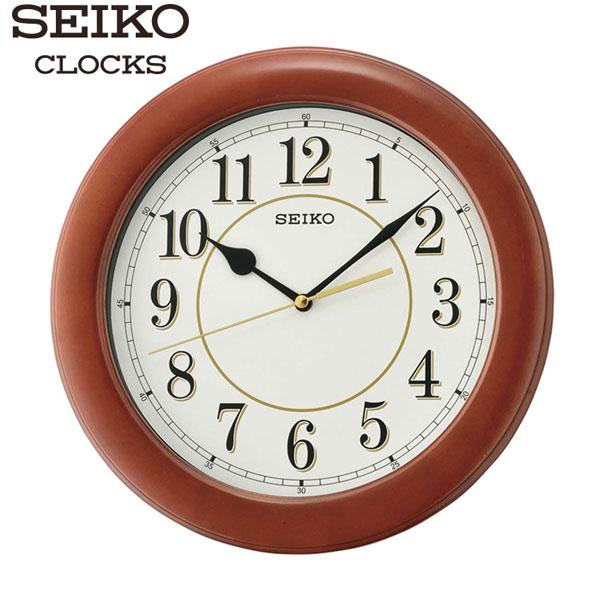 SEIKO精工掛鐘典雅木頭外殼數字掛鐘公司貨QXA662B名人鐘錶高雄門市