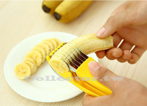 【N14061001】創意廚房 不銹鋼香蕉切片器 水果切片器 水果刀 香蕉切