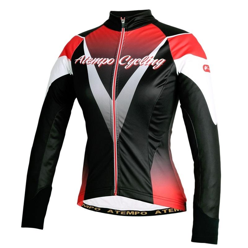 【ATEMPO】ARD系列 女款 保暖長袖車衣 暗桃紅  紅黑色  紅白色 (冬季車衣/長車衣/長車褲)