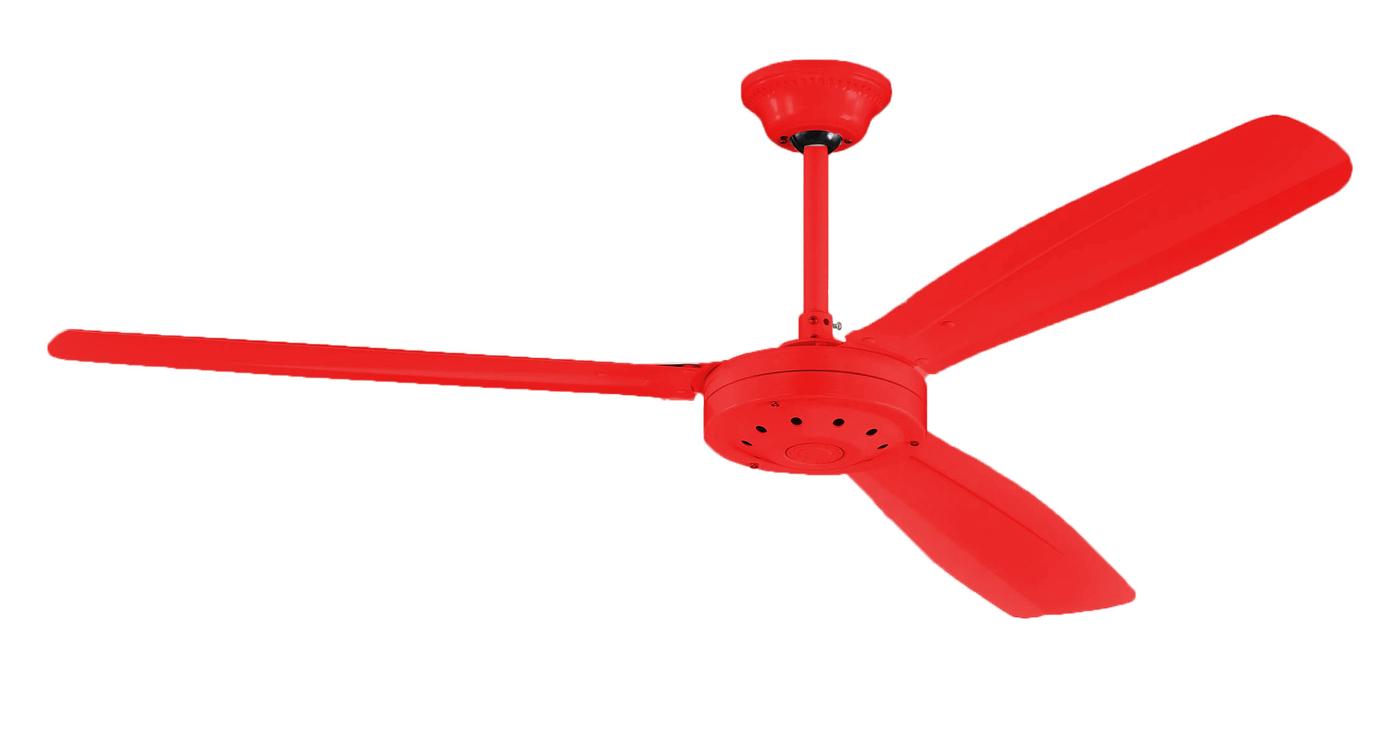 【燈王的店】台灣製 52吋  工業吊扇 附壁控  三葉扇 鐵葉扇 紅色 ☆  SC358-52