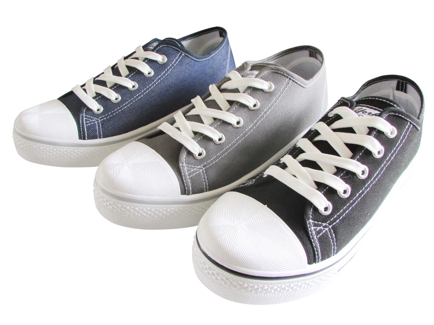 『雙惠鞋櫃』★ 男版 學生 街頭 中性帆布鞋★台灣製造★(A2023) 黑、灰、牛仔藍