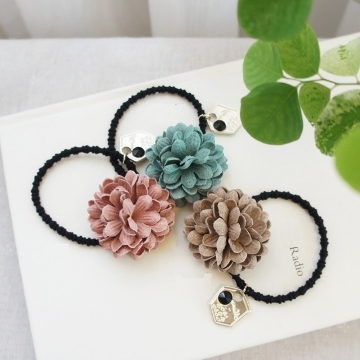 UNICO 韓國新品 清新小雛菊造型髮圈/髮繩