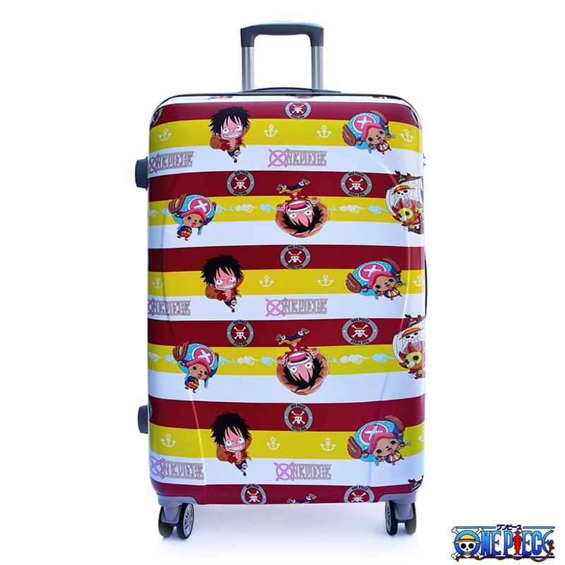 航海王海賊王ONE PIECE 28吋海軍風PC材質旅行箱行李箱紅黃條紋3OP2Z11