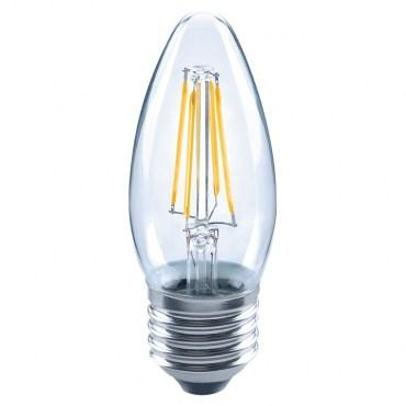 PRO特選蠟燭型LED燈絲燈泡4W清光E27-燈泡色