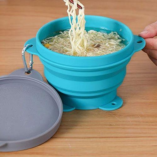 創意旅行折疊矽膠碗 (1000ml) 便攜式伸縮碗