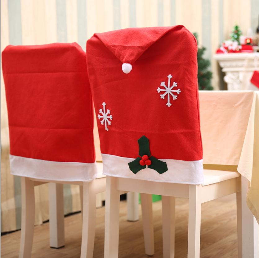 聖誕裝飾品 聖誕雪花椅子套 聖誕餐桌裝飾─預購CH2533