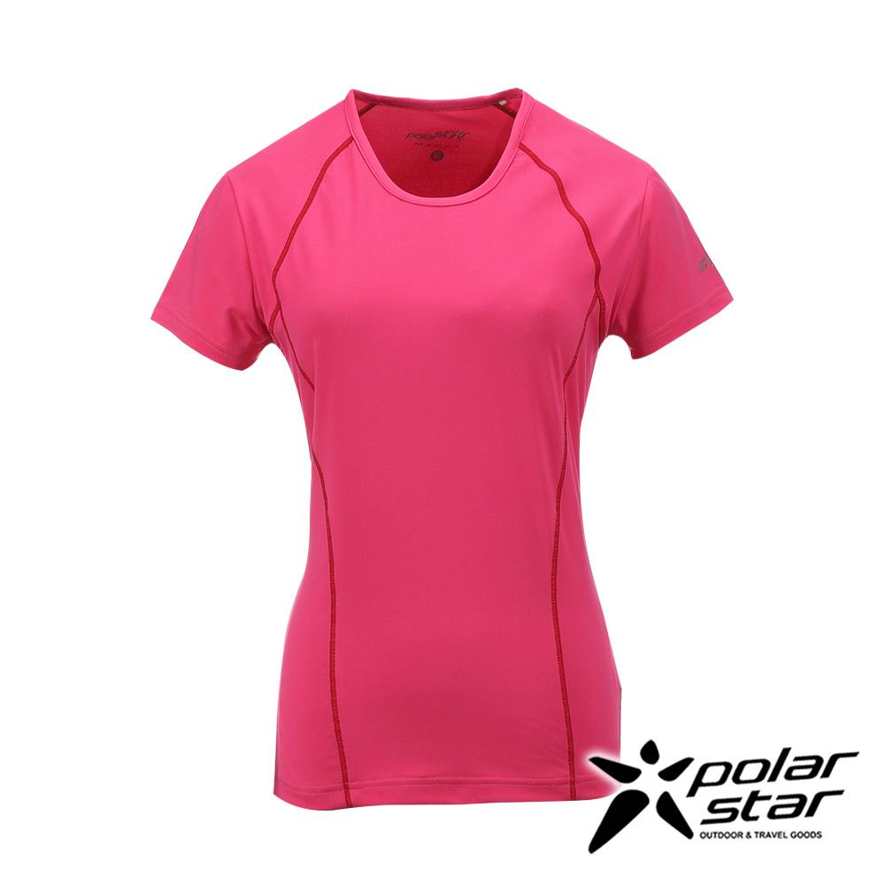 PolarStar女排汗快乾T恤深粉紅P17130吸濕排汗透氣T-shirt短袖運動服瑜珈休閒服短袖透氣運動服