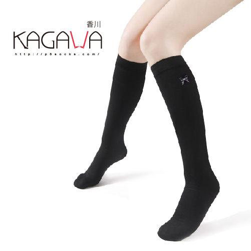印花中筒襪黑色半透膚9款花樣NO405香川絲襪KAGAWA