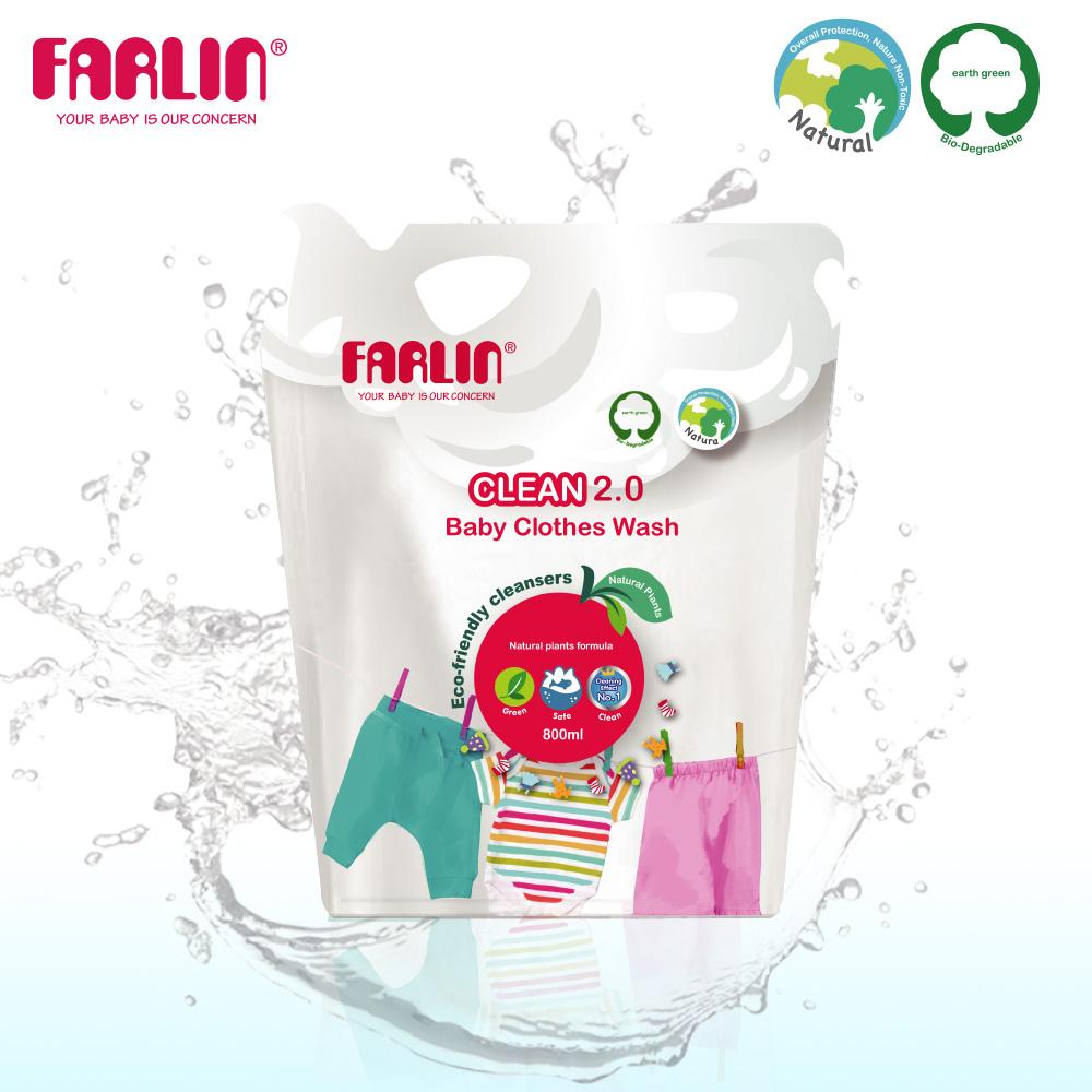 【FARLIN】植物性寶寶洗衣精(補充包/800ML)