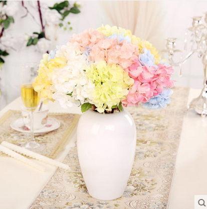 F0807清新簡約瓶花器擺設歐式家居客廳桌面裝飾品繡球花套裝1套