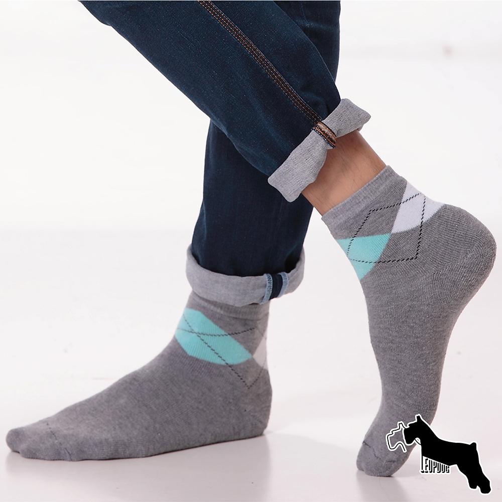 LIGHT DARK時尚全毛圈氣墊保暖襪-蘇格蘭紋