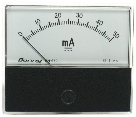 DC50mA 670指針式工業用直流電流錶頭