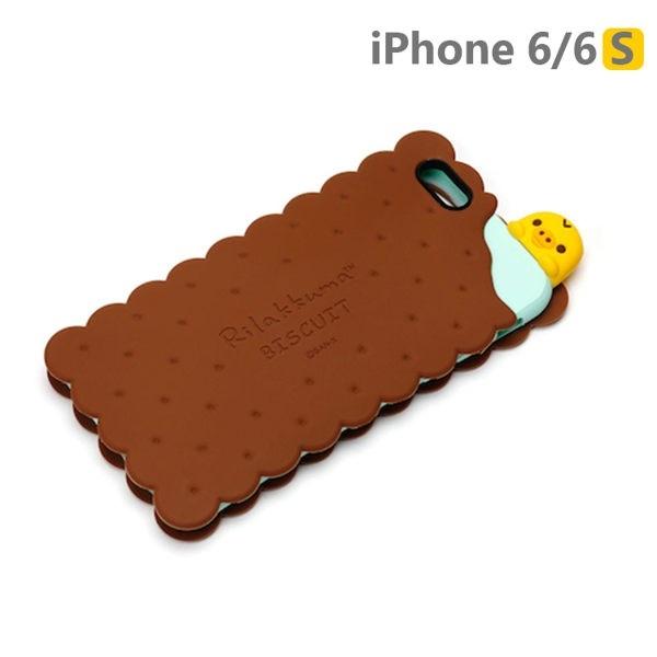 iPhone6/6S 手機殼 拉拉熊 San-X 日本正版授權 3D浮雕/矽膠 軟殼 4.7吋 -餅乾小雞YY01106