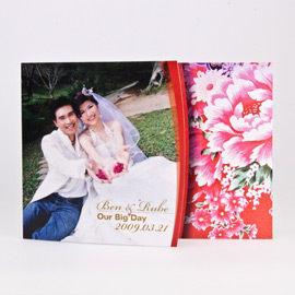 相片喜帖花好月圓系列Ⅱ-紅編號p001-b特色喜帖創意婚卡婚紗喜帖精緻婚卡幸福朵朵