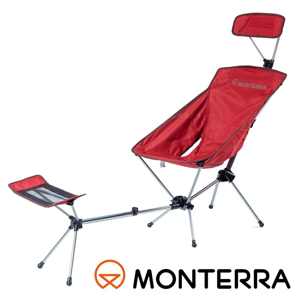 MONTERRA韓國超輕可調式鋁合金摺疊椅紫紅POA71戶外.露營.野炊.烤肉.釣魚.野餐椅.露營椅