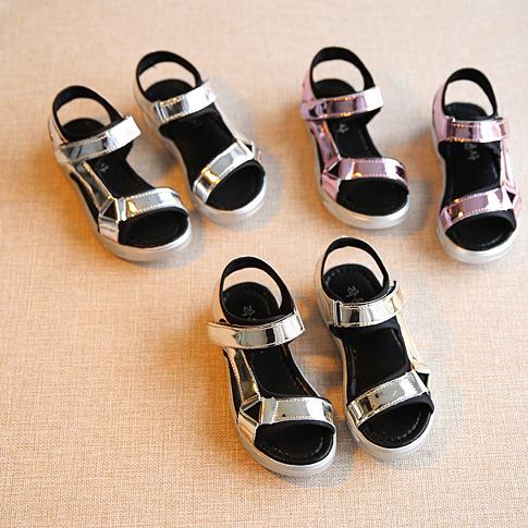 女童亮面涼鞋 便鞋 童鞋 休閒鞋  橘魔法Baby magic 現貨 童鞋 尺寸:16.5~23 公分