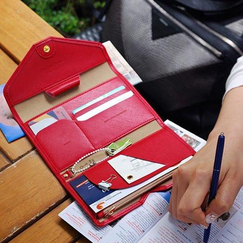 長夾/手拿包 素色皮面多分層長夾 拉鍊皮夾錢包卡包護照包【PS003】 BOBI  02/25