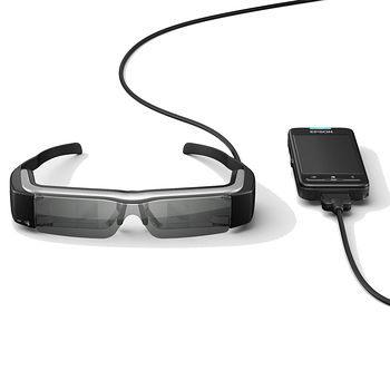 現貨下標現折EPSON Moverio BT-200 3D智慧眼鏡頭戴式影院960x540高解析度內建Wi-Fi藍芽