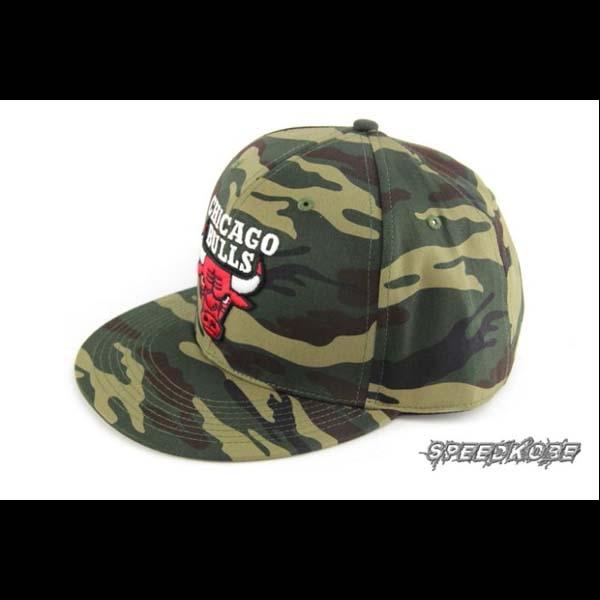 SP NBA SNAPBACK棒球帽嘻哈帽公牛隊軍綠迷彩8531304-010