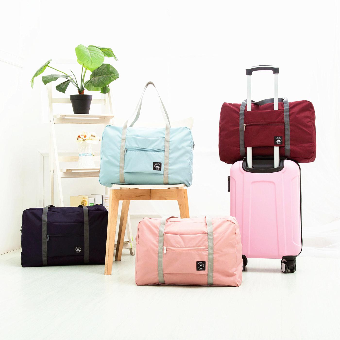 旅行手提摺疊包 隨身行李 肩背 防水 收納袋