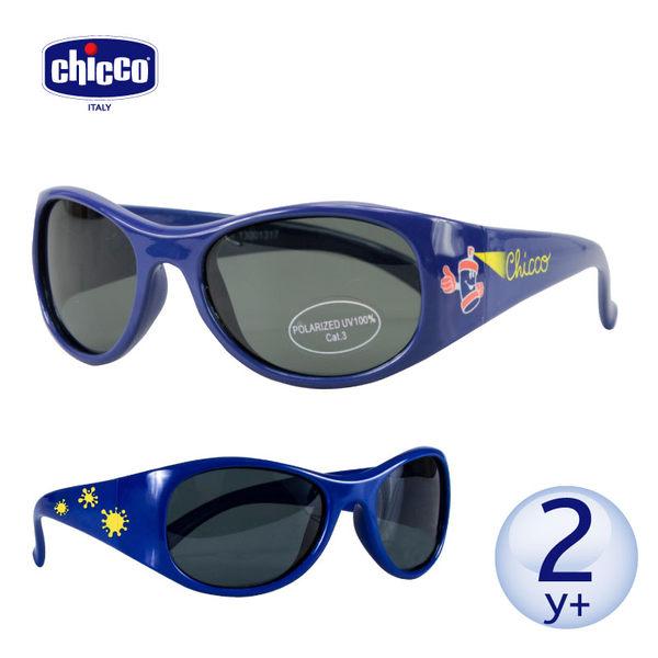 chicco-(街頭塗鴨藍)偏光太陽眼鏡-兒童專用