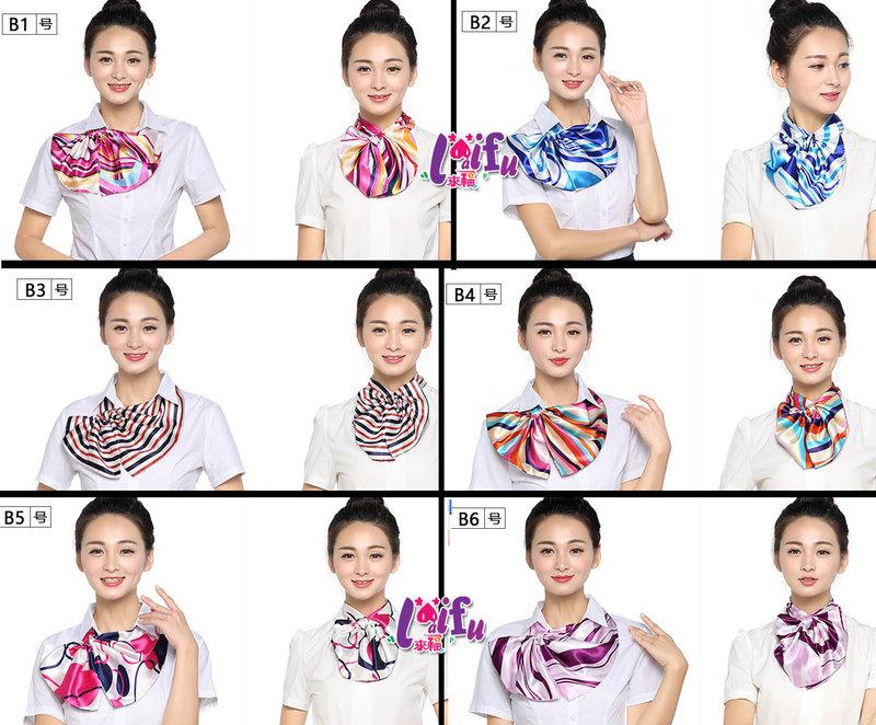 來福絲巾K820絲巾多變化絲巾不規則餐飲空姐圍巾絲巾領巾售價150元