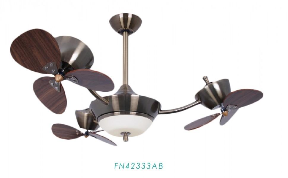 【燈王】《美國專利DC吊扇AiFan》直流變頻省電 自然風 三轉子 42吋吊扇 LED吊扇燈 遙控器☆FN42333AB