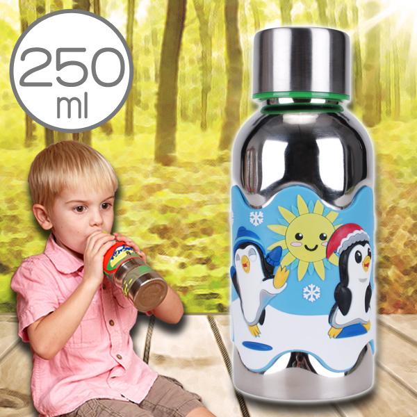 美國i.d.gear保溫兒童水壺不鏽鋼幼童水瓶水杯-極冰企鵝250CC B-2VST014