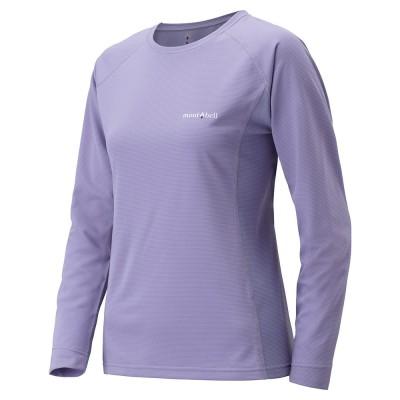 【山水網路商城】日本mont-bell 女款排汗圓領長袖T恤/排汗衣/涼感科技 1114122 LV 薰紫