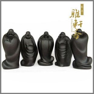 紫檀黑檀木雕工藝品彌勒佛擺件