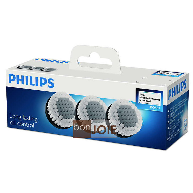 bonJOIE:日本進口飛利浦Philips RQ563 51潔面刷頭三入組SmartClick控油清潔刷控油刷RQ-563 RQ585