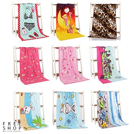 Free Shop超細纖維英美加拿大國旗歐美元鈔票豹紋斑馬紋造型沙灘浴巾毛巾沙灘巾海灘巾QAAKU7083